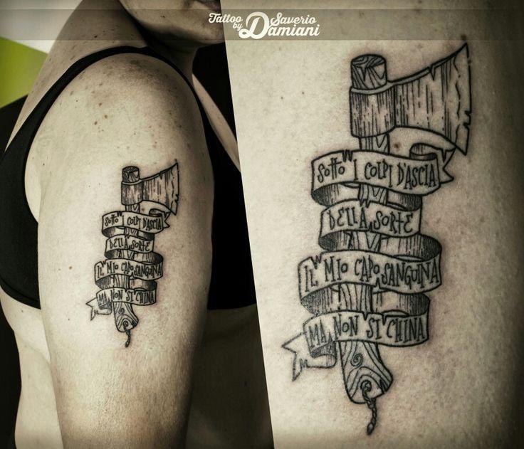 Tattoo Ascia By Saverio Alan Damiani | Saverio  Damiani DS Tattoo