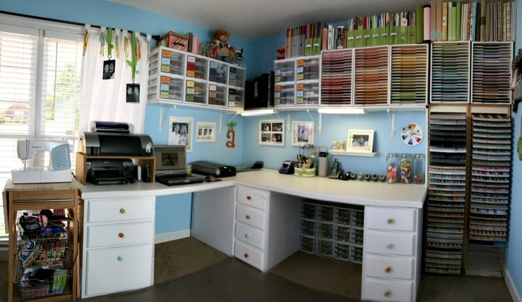 Ideas for craft room: Scraproom, Organizations Ideas, Scrap Rooms, Crafts Rooms, Crafts Spaces, Dreams Rooms, Scrapbook Rooms, Rooms Ideas, Paper Storage