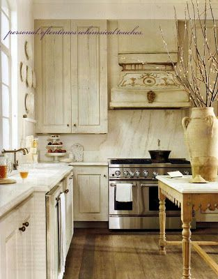 white washed cabinets w/ white counter