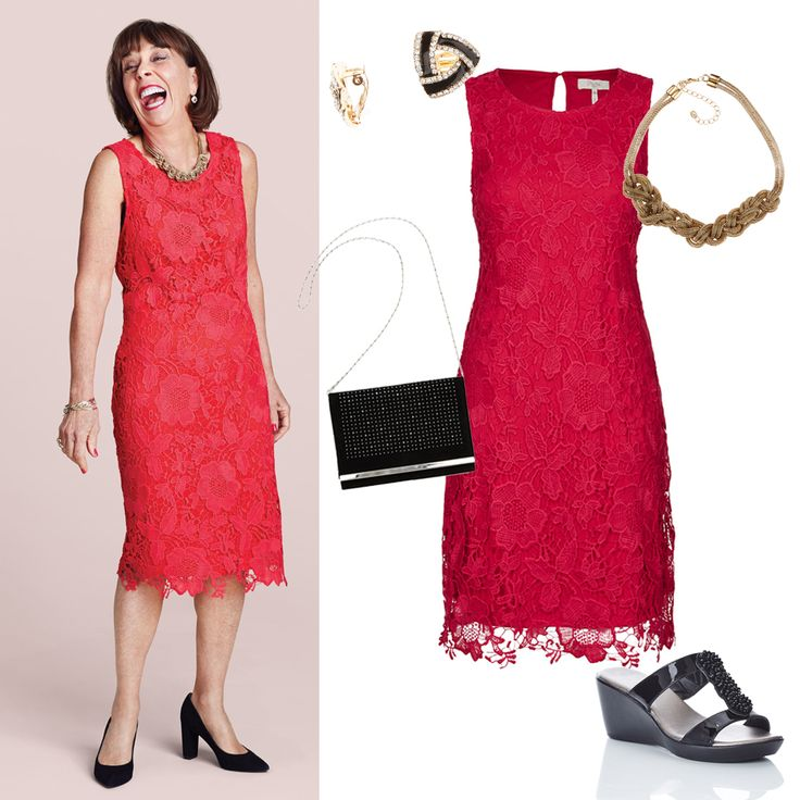 There is a shade of red for every woman – Audrey Hepburn Love this lace red dress so fashion focussed and trendy. Helen is our real Millers customer and gorgeous lady starring in our latest campaign. #realbeauty #realwomen