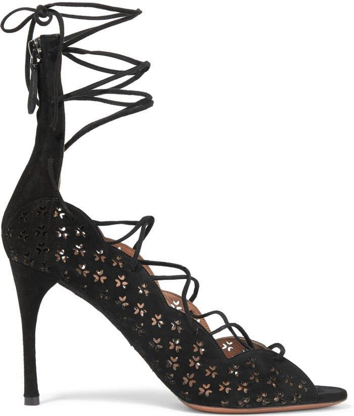 azzedine alaia sandals | Spring 2016 Shoes: Laser-Cut Alaïa 'Carine' Suede Sandals