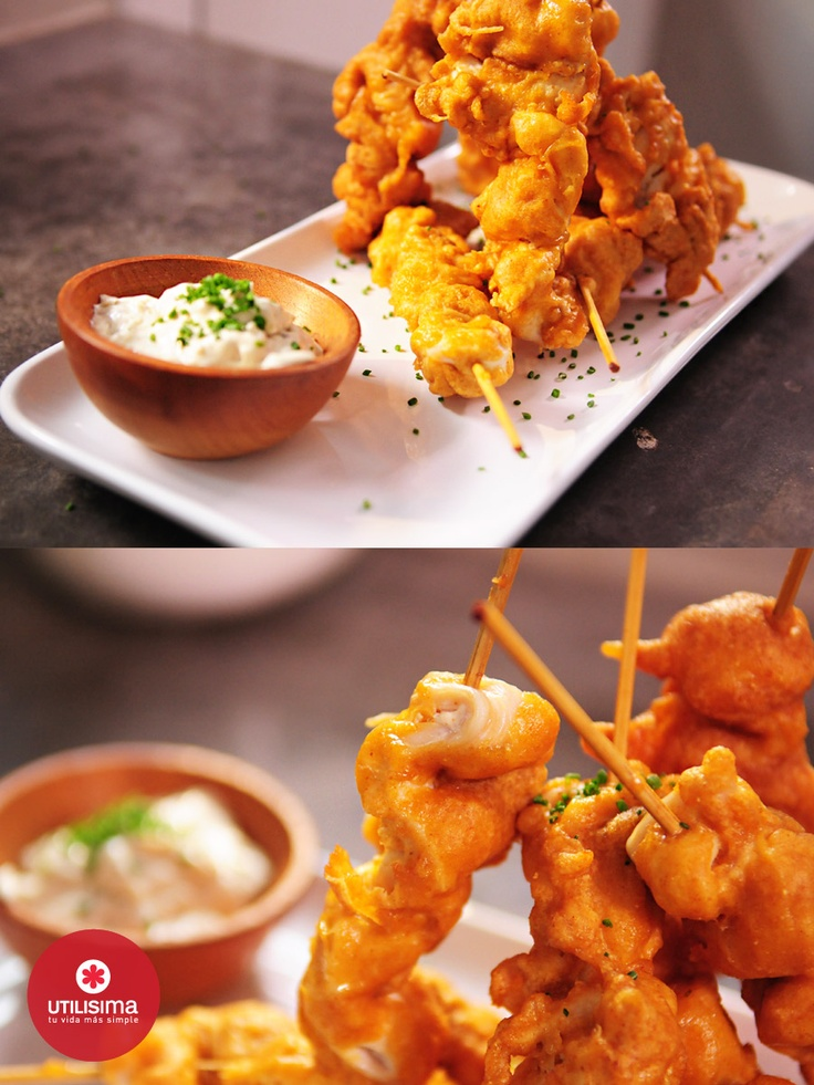 Espeto de pollo frito, por Santiago Giorgini…