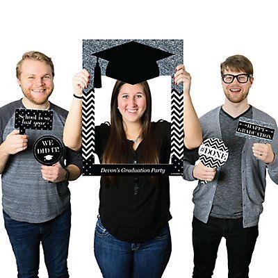 Quaste die Mühe wert - Silber - personalisierte Abschlussfeier Selfie Photo Booth Bilderrahmen & Requisiten - Gedruckt auf robustem Material