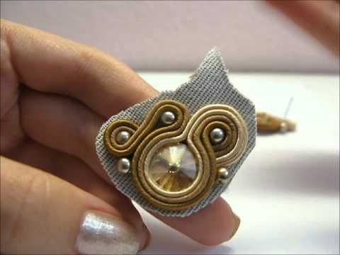 Inserire un perno per gli orecchini soutache | Collaborazione con CinziaGrandi - YouTube