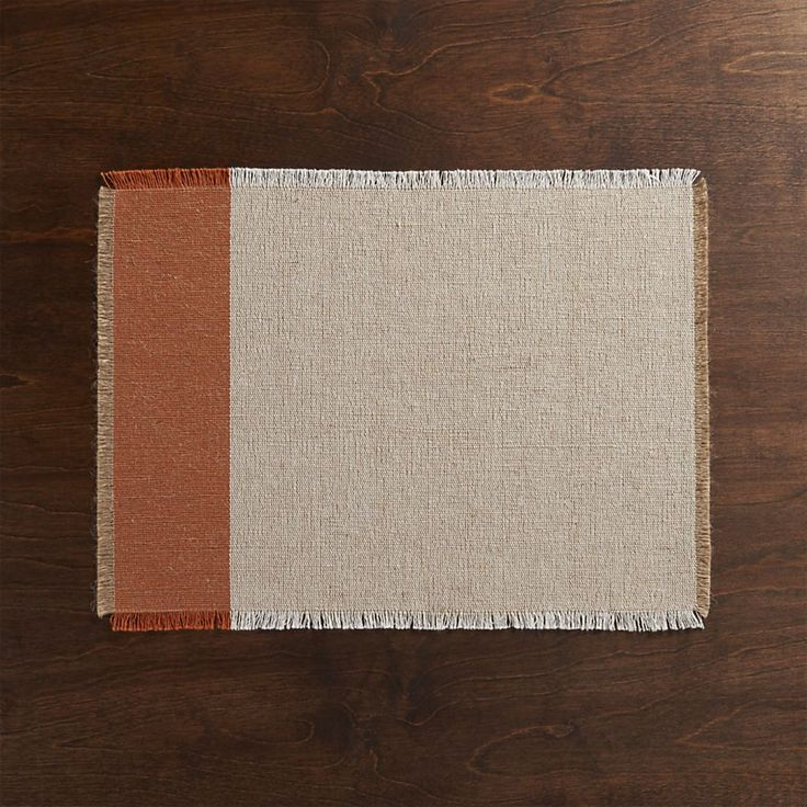 Roscoe Orange Placemat | Crate and Barrel