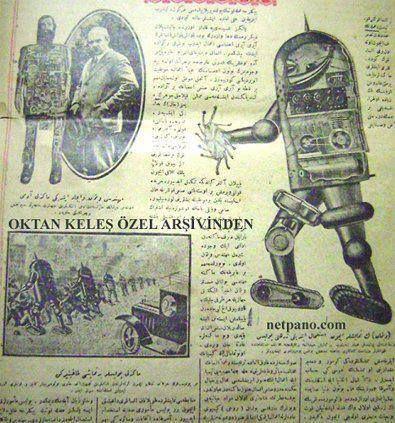 ROBOT    Osmanlı robotu ALAMET1889 yılında II. Abdulhamit tarafından yaptırılmış, Japon kralına hediye olarak gönderilmiştir. 7 günde bir kurulan, saat başı sema dönen, aynı zamanda içindeki gramofon sayesinde ezan okuyabilen ve yarım metre yürüyebilen Alamet, dünyanın ilk mekanik robotları arasında sayılabilir...