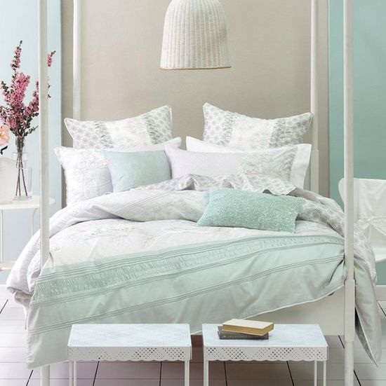 Nice Mint Green Bedroom Ideas   Hint Of Purple