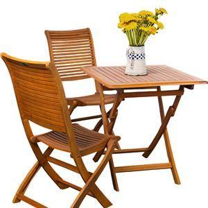 Set da giardino salvaspazio tavolo 70x70 pieghevole con