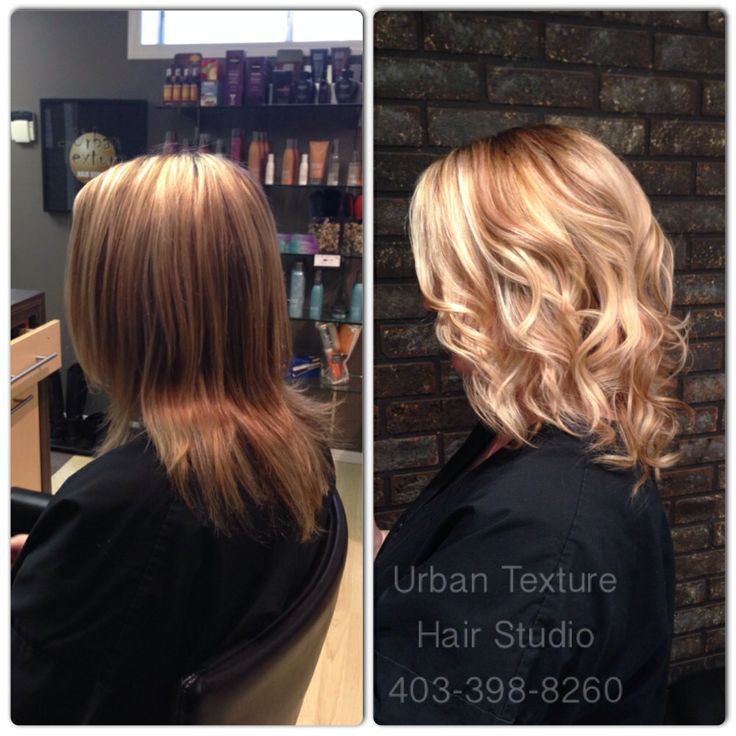 """One of our latest bright, beautiful, blondes! """"Like"""" Hair by Laurie  Urban Texture Hair Studio  403-398-8260 #urbantexturehairstudio #urbantexture #hair #hairsalon #calgary #calgaryhair #calgaryhairsalon #calgaryhairstylist #calgaryhairdresser #color #foils #blonde #wavy #curly #curls #balyage #ombre #voila #redken #eufora #btcpics"""