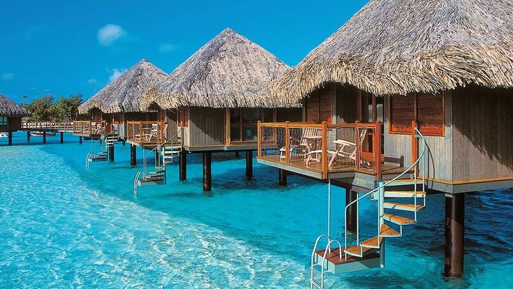 Bora Bora - I sooo want to be in one of these right now.