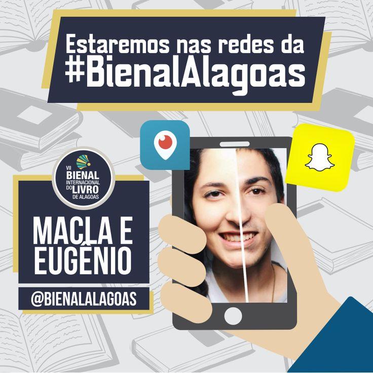 Divulgação de participação dos Youtubers na Bienal Alagoas.