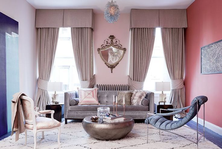A few shades of pink with hints of modern pieces and Parisian accents - Designed by Duan Curry.