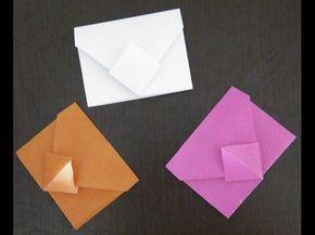 Поделки из бумаги. Как быстро сделать оригами конверт из бумаги без клея!