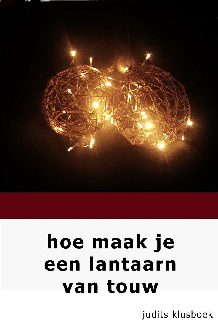 Hele leuke DIY: zelf lantaarns maken voor binnen of buiten met touw