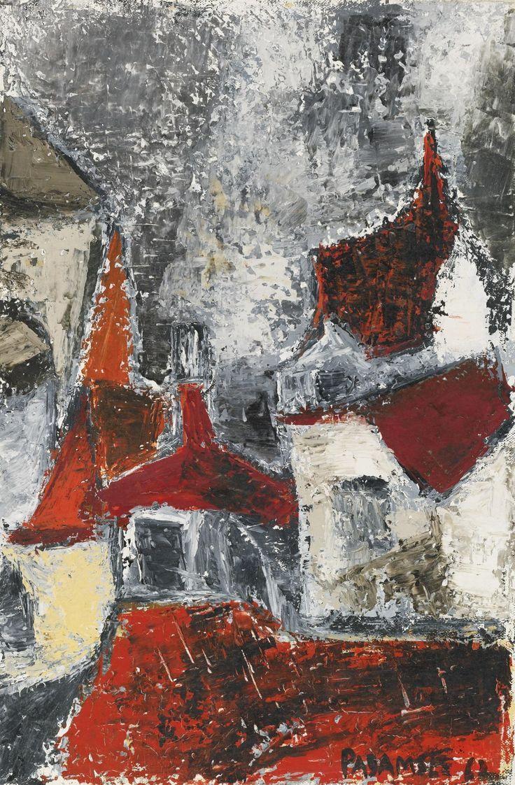 Akbar Padamsee (1928-) Cityscape 1962 (41,2 by 27,3 cm)