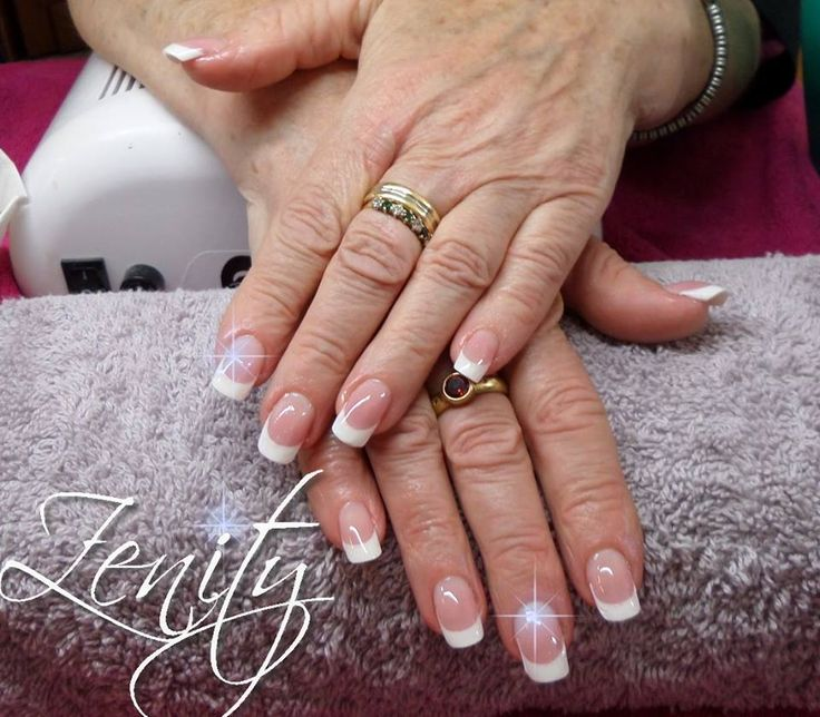 Pose d 39 ongle en gel french blanche pose d 39 ongles en gel pinterest french - French ongle gel ...