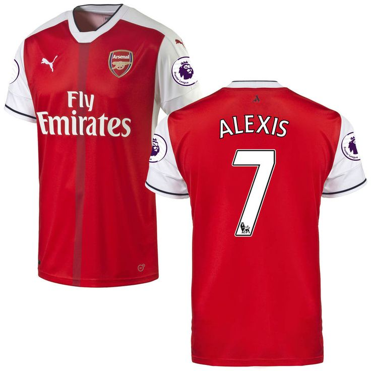 Alexis Sanchez Arsenal Puma 2016/17 Home Replica Patch Jersey - Red