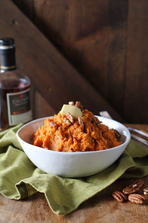 Southern Thanksgiving!  Maple Bourbon Mashed Potatoes   a.k.a. the best mashed sweet potatoes. ⚓CQ #southern #thanksgiving