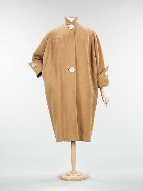 Coat Designer: Charles James (American, born Great Britain, 1906–1978) Date: ca. 1950 Culture: American Medium: wool