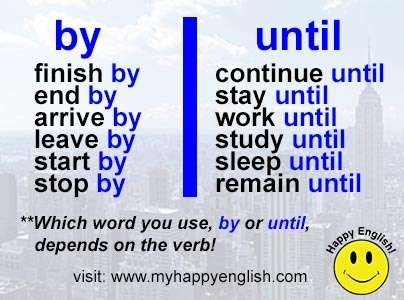 by-until, #learn #english