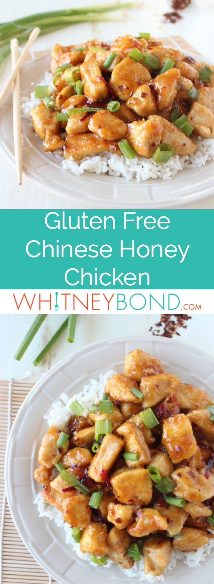 This healthier & better-than-takeout recipe for Chinese Honey Chicken is easy to make at home in only 29 minutes, and it's gluten free!