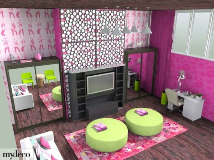 cool girly pink and green bedroom room ideas pinterest