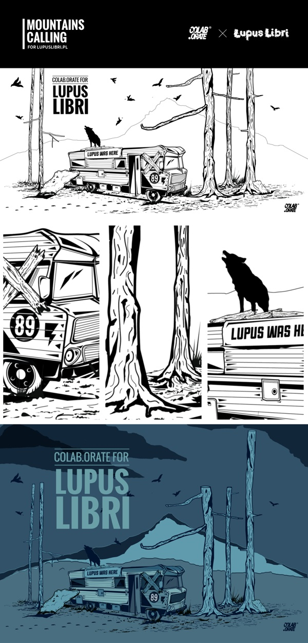 MOUNTAINS CALLING for lupuslibri.pl by Grzegorz Rauch, via Behance