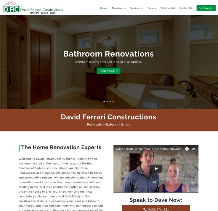 David Ferrari Constructions is located on the Northern Beaches of Sydney and specialise in renovations and extensions.