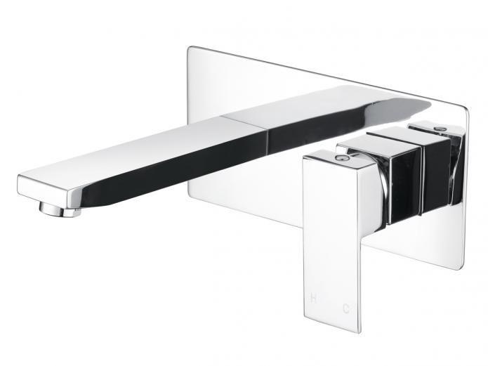 Mizu Drift Wall Bath Mixer Set Chrome
