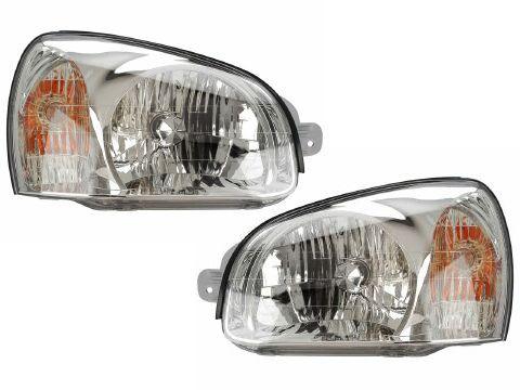 2001-2003 Hyundai Santa Fe Head Light Set: 2001-2003 Hyundai Santa Fe Head Light Set #CarHeadlights #AutoHeadlights