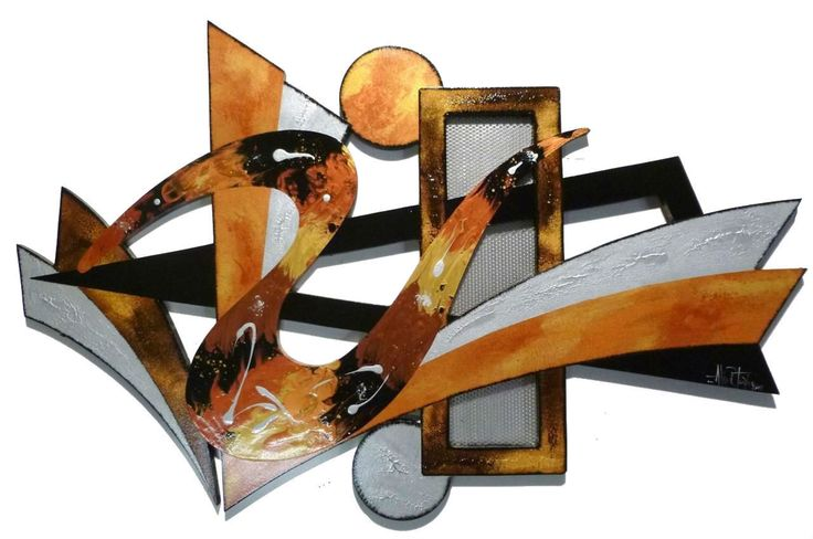 Stylish Warm Sands Contemporary Modern Abstract Wall Sculpture Hanging by Alisa | eBay