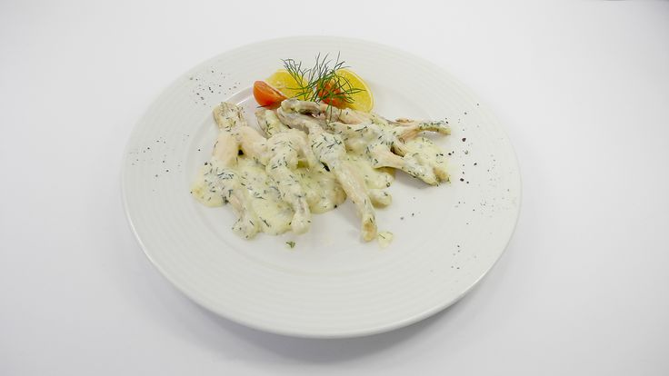 Frog legs in a creamy dill sauce, French cuisine, September