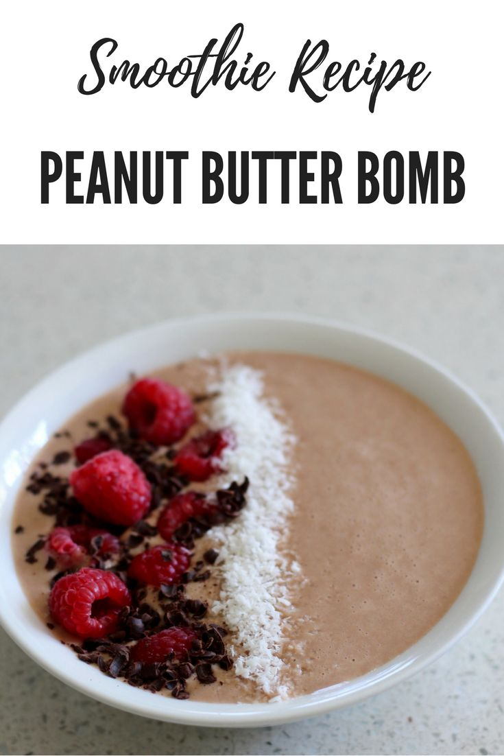 A healthier take on the peanut butter bomb.   Click to see the recipe above.