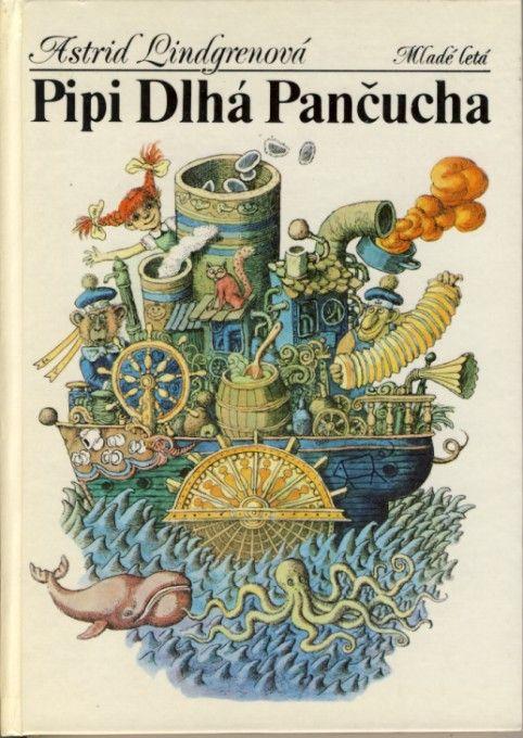 Astrid Lindgren: Pippi Longstocking / Pipi Dlhá pančucha (Bratislava, 1985) - illustrated by Peter Kľúčik