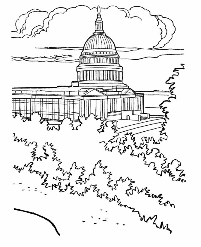coloring pages of capitol building - photo#5