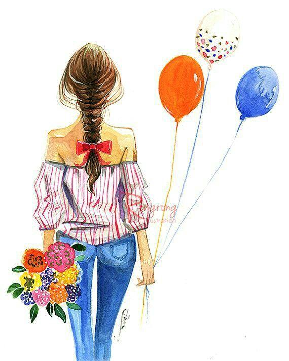 Beautiful Hair illustration #braid / Bella illustrazione capelli #treccia - Art by  ?