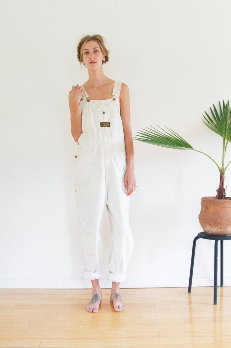 OVERALLS / WHITE PAINTERS Overalls Sanforized by shopfuture on Etsy