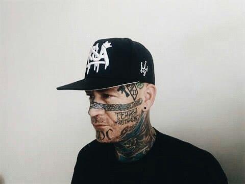 RSA Streetwear Snapback, a man with tattoos on his face @rsaallday www.rsallday.com