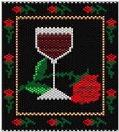 Wine and Roses Amulet Bag | Bead-Patterns.com