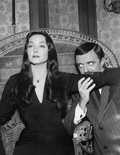 John Astin and Carolyn Jones in The Addams Family (1964)