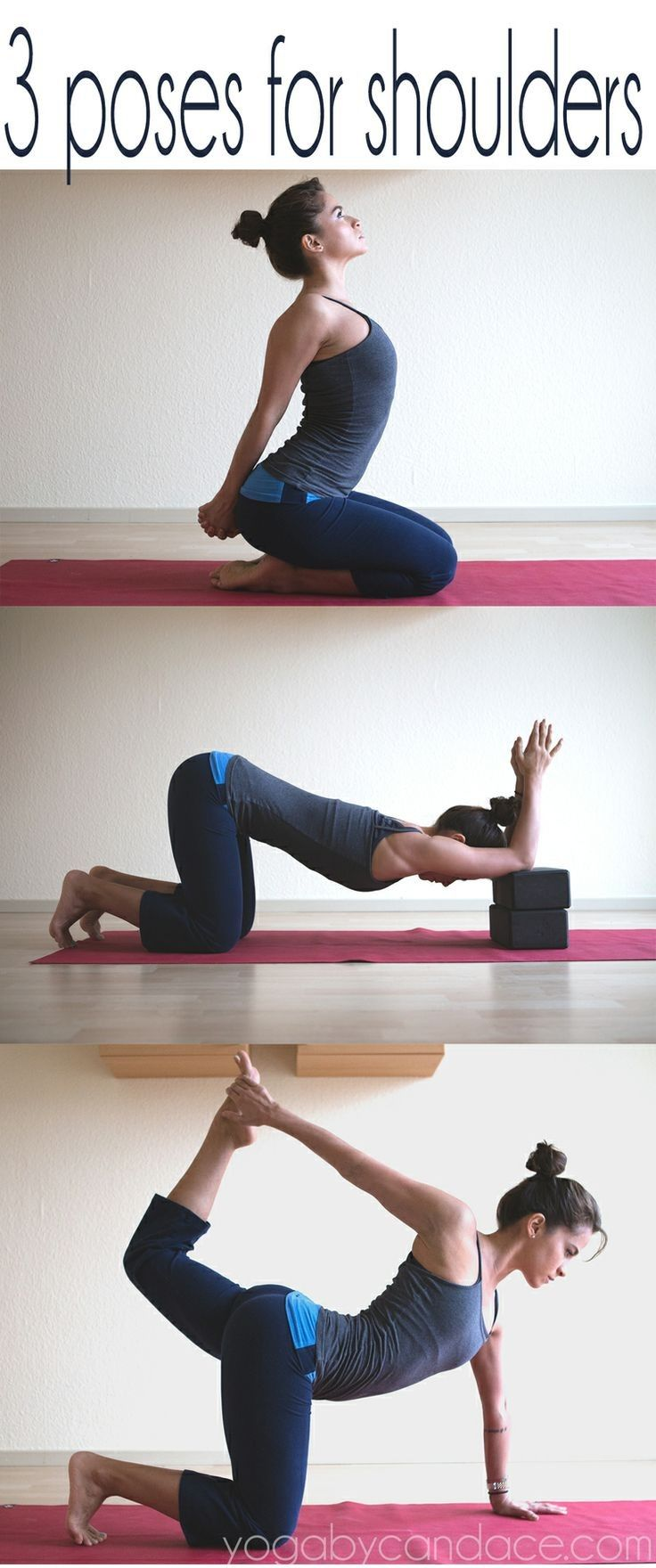 3 yoga poses for the shoulders and chest.