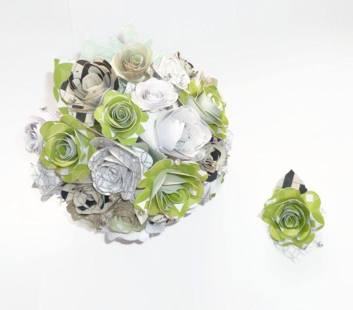 Bespoke Paper Wedding Flowers Commission Your Bridal Bouquet