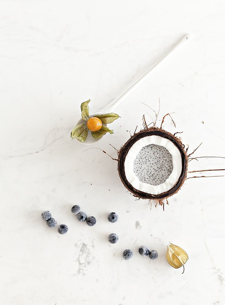 Coconut Chia Pudding   Marble Table and Ceramics & Marble Tableware from Serax Belgium