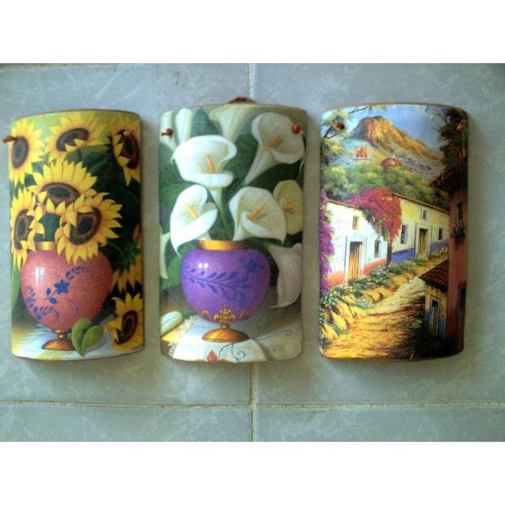 17 best images about tejas decoradas on pinterest - Pintura para tejas ...