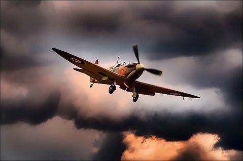 Spitfire on final