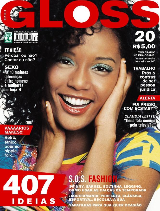 Revista Gloss - Edição Número 20 - Taís Araújo - Maio/09