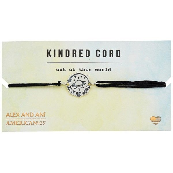 Alex and Ani Cosmic Love Kindred Cord Bracelet (Out of This World... (€26) ❤ liked on Polyvore featuring jewelry, bracelets, alex and ani jewelry, adjustable bangle, cord bracelet, charm jewelry and galaxy jewelry