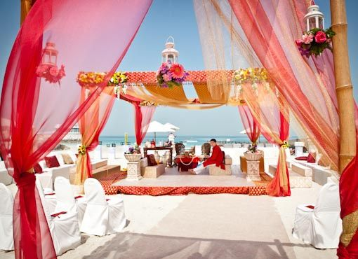 A giant golden mandap and elephants on the sand always looks and sounds overdone. There are so many creative ways to reflect the idea of one without actually using it!