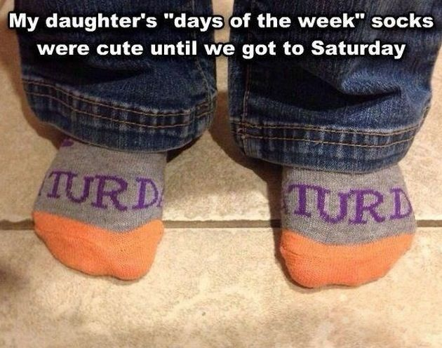 Saturday Socks Fashion Fail ---- hilarious jokes funny pictures walmart humor fails