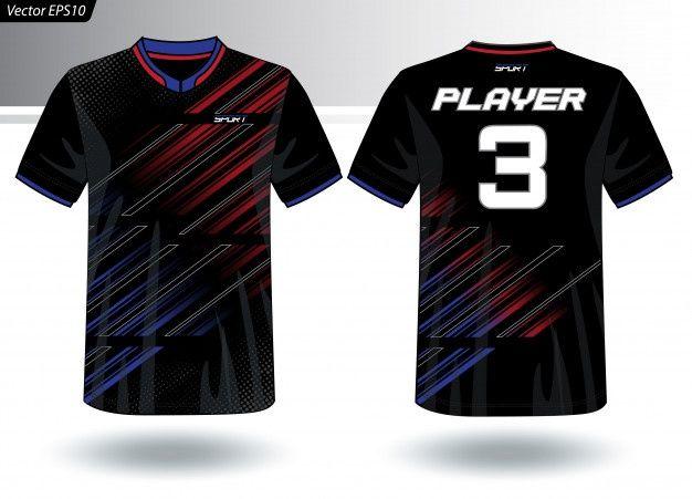Download Sports Jersey Template For Team Uniforms Premium Vector Freepik Vector Mockup Fashion T Shirt Football Sports Jersey Team Uniforms Jersey